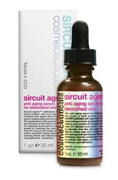 Sircuit Skin Sircuit Agent Anti-Aging Serum - 1.00 fl oz by Sircuit Skin. $92.50. L-Lactic Acid (2%) - skin softening.. Salicylic Acid (2%) - helps decongest pores.. Fomus Officinalis Extract (Mushroom) - astringent, tightens pores and minimizes their appearance.. L-Menthyl Lactate - cools and refreshes skin.. Hamamelis Extract - (Chirally Correct D-complex) a.k.a. Witch Hazel, astringent.. Free your life of excess. Sircuit Skin Sircuit Agent is the one treatment for ...