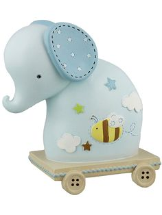 Pink elephant money box baby gift tfpgifts pinterest money blue elephant money box baby gift negle Image collections