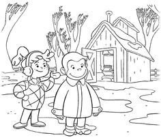 Free Astronaut Curious George Printable Coloring Page  Printable