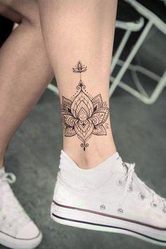 47 Best Lotus Flower Tattoo Ideas to Express diy tattoo - diy tattoo images - diy tatt Trendy Tattoos, Cute Tattoos, Leg Tattoos, Body Art Tattoos, Small Tattoos, Sleeve Tattoos, Awesome Tattoos, Tattos, Tattoo Legs