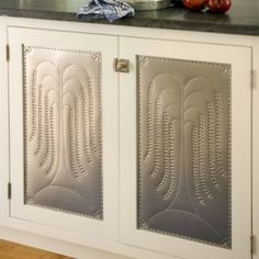 Ordinaire Love These Detailed Metal Panels In These Cabinet Doors