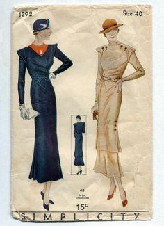 Simplicity #1292 c.1931