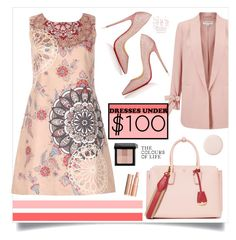"""""""Dresses Under $100"""" by southindianmakeup1990 ❤ liked on Polyvore featuring Miss Selfridge, Izabel London, Christian Louboutin, MCM and Bobbi Brown Cosmetics"""