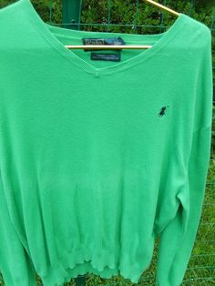 Vintage Polo Ralph Lauren Men's Sweater Knit v-neck LARGE green | Clothing, Shoes & Accessories, Men's Clothing, Sweaters | eBay!
