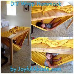 Woven Wrap Swing - Winning Mom of the Year - Joyful Abode (Fun way to break in my new wrap)