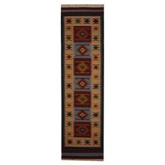 Indo Hand-woven Turkish Kilim Red/ Ivory Wool Rug (2'6 x 10') - Overstock™ Shopping - Great Deals on Runner Rugs