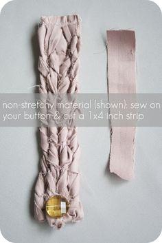 diy fabric bracelet tutorial.