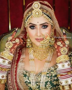 Indian Bridal Photos, Indian Bridal Jewelry Sets, Indian Bridal Makeup, Indian Bridal Outfits, Indian Bridal Fashion, Beautiful Hijab Girl, Beautiful Indian Brides, Indian Dress Up, Rajasthani Bride