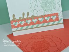 Inch of Creativity: Stamp Review Crew: Blended Bloom Stampin Up, Blended Bloom
