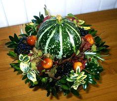 Bloemschikken sierkalebassen, sierfruit, pompoenen, fleskalebassen, turkse mutsen, sierpompoentjes rond haloween