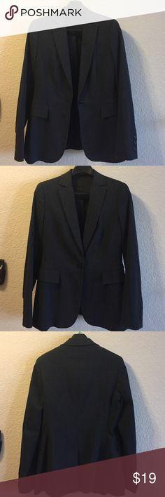 Dark gray Express size 10 Express size 10 dark gray single button boyfriend blazer. 45% rayon 32% polyester 20% nylon 3% spandex. Express Jackets & Coats Blazers