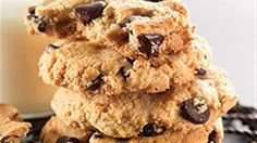 Almond flour is the secret ingredient in these crisp and tender chocolate chip cookies. For chewiest cookies, enjoy these warm from the oven. If you prefer them a bit crisp, wait until they've cooled before biting into one (or several). Store any remaining cookies at room temperature - a cookie jar keeps them handy!