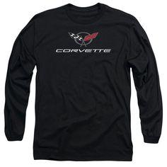 Chevy Corvette Modern Emblem Adult Long Sleeve T-Shirt