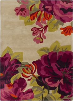 With flowers so beautiful you can almost smell them! From the Sanderson Collection by Surya (SND-4507)