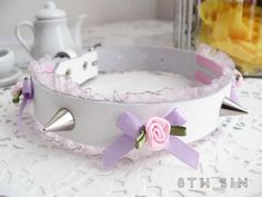 White Pink & Lilac / Lavender Rose Lace and by 8thSinCreations