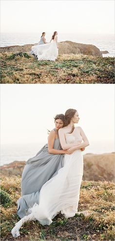 Rustic romance with ocean views. #weddingchicks Captured By: Lauren Peele Photography http://www.weddingchicks.com/2014/09/08/rustic-romance-with-ocean-views/