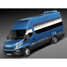 c64635c38c Iveco Daily Minibus 2015 - 3D Model Caravan Conversion