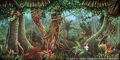 Tropical Jungle Backdrops For Events Tropical Landscaping, Tropical Birds, Art Google, Landscape Art, Backdrops, Australia, Nature, Plants, Painting