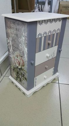 Bildergebnis anstelle Decoupage-Mobiliar The post Bildergebnis anstelle Decoupage-Mobiliar Decoupage Wood, Decoupage Furniture, Decoupage Vintage, Diy Furniture Projects, Chalk Paint Furniture, Hand Painted Furniture, Recycled Furniture, Shabby Chic Furniture, Furniture Makeover