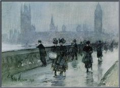 Hassam Westminster Bridge - Childe Hassam