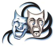 Comedy Tragedy Mask Graphics