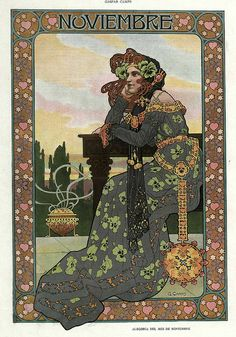 All sizes | 011-Alegoria del mes de Noviembre- Gaspar Camps-Revista Álbum Salón-Enero de 1901 -Hemeroteca de la Biblioteca Nacional de España, via Flickr.
