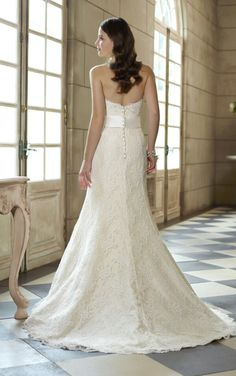 wedding dress #back view