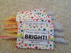 Back to school gift for kiddos. Could be a highlighter for teachers.
