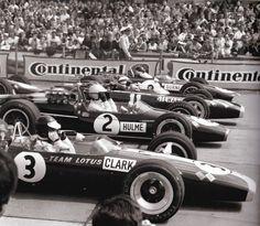1967 German GP at the Nürburgring: Jim Clark, Denny Hulme, Jackie Stewart and…