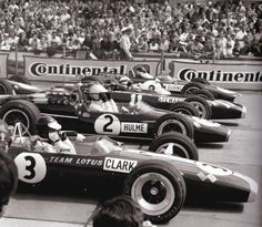 1967 German GP at the Nürburgring: Jim Clark, Denny Hulme, Jackie Stewart and…