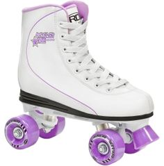 Designed to give you total freestyle comfort, the Roller Derby® Women's Star 600 Roller Skates feature comfort fit boots with polyethylene foam and high ankle support. Their strong RTX Pro frames were built for long skate sessions and the 56mm urethane wheels roll smooth through the streets. The Star 600 skates have supportive reinforced heels and lace closures for optimal stability. Use the front brake system to slow down your quick speed.