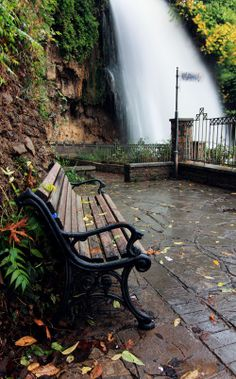 This is in Edessa, Greece. A small city about a half hour's drive west from my family's village. Very beautiful and a great city to relax in. Greece Vacation, Greece Travel, Beautiful World, Beautiful Places, Travel Around The World, Around The Worlds, Santorini Villas, Myconos, Peaceful Places