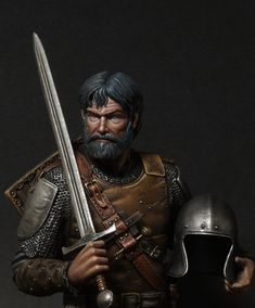 Painted for box-art This is the News Bestsoldiers European Mercenary century. Medieval Knight, Medieval Armor, Medieval Fantasy, Game Character Design, Fantasy Character Design, Character Art, Character Ideas, Knight Drawing, Ancient Armor