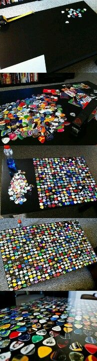 Guitar pick table - this would be awesome!