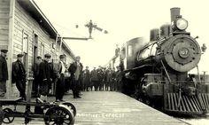 SOUTH PORCUPINE, N Ontario, Canada - Temiskaming & Northern Ontario Railway depot