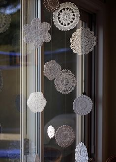 Doily window hangings
