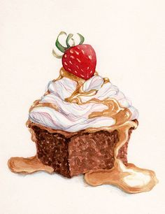Watercolour sweets on Behance