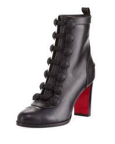Who+Dances+Leather+Red+Sole+Bootie+by+Christian+Louboutin+at+Neiman+Marcus.