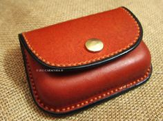Leather coin purse wallet wet moulded leathercraft by CARACODA