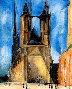 Lyonel Feininger - Market Church in Halle, 1930