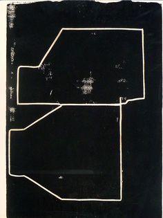 Antoine Puisais, Sans titre (2 bidons), 2012, encre acrylique sur contreplaqué, 22,5 x 30cm, pièce unique.