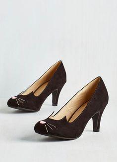 ~Actual~ kitten heels.