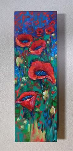 Red Poppy Painting on Canvas, Flowers, Red Poppies Vibrant, Abstract Flower Painting, Acrylic Painti Original Art, Original Paintings, Acrylic Paint Pens, Abstract Flowers, Red Poppies, Your Paintings, Fine Art Gallery, Wall Art Decor, Fine Art Prints