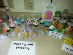 The last step is to get the peep products packed and shipped.