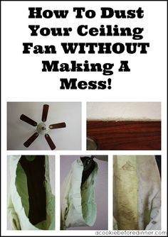 How To Dust Your Ceiling Fan Without Making A Mess Title