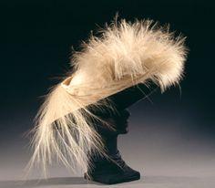 Merry Widow Hat by American Plush, circa 1910, USA via the Wadsworth Atheneum.