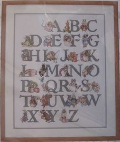 JCA Needle The World of Beatrix Potter Alphabet Sampler Cross Stitch Kit 02327 for sale online Beatrix Potter, Alphabet, Counted Cross Stitch Kits, Stamp, Alpha Bet, Stamps