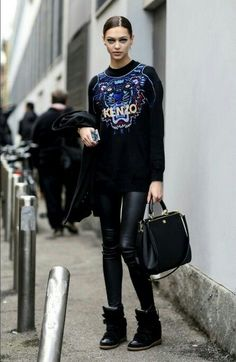 Kenzo street style... - Total Street Style Looks And Fashion Outfit Ideas