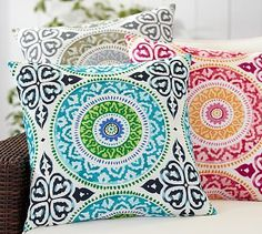 Leona Medallion Indoor/Outdoor Pillow #potterybarn