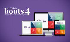 Boots4  Free Bootstrap 4 Website Template Freebies CSS3 Web Design Free Resource Template Responsive Web Development HTML5 Javascript Portfolio HTML CSS Layout Bootstrap